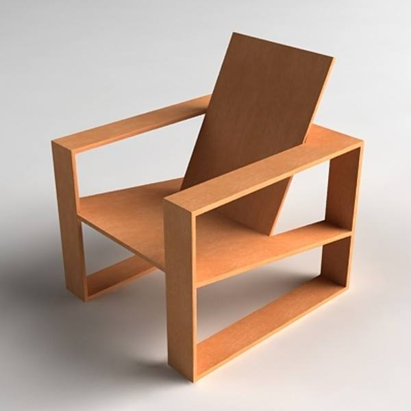 Long wood Chair