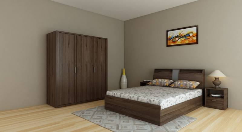 2013 modern painting bedroom set (bed,dresser,wardrobe)