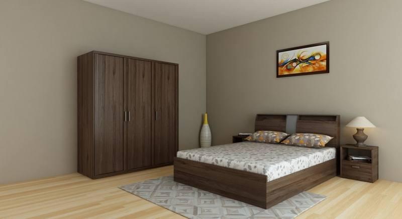 2013 modern painting bedroom set (bed,dresser,wardrobe)
