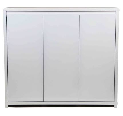 Goccia, modern shoe cabinet in white gloss finish thumbnail