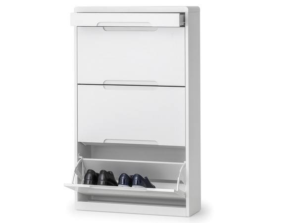 Titan Contemporary Shoe Cabinet in Choice of High Gloss, Glass or Wood  thumbnail