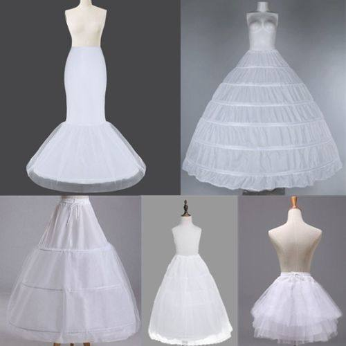 2018 New Arrival Ball Gown 8 Layers Tulle Sexy Wedding Dresses Petticoats Without Hoops Luxury Quinceanera Dresses Underskirt Long Crinoline Puffy Skirts