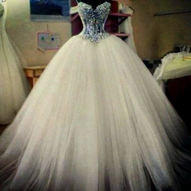 Luxurious Crystal Diamond Bling Wedding Dresses Sparkling Long Tailing  Sweetheart Ball Gowns Lace Up Corset Wedding Dresses Bride Dress Sexy Ball  Gown