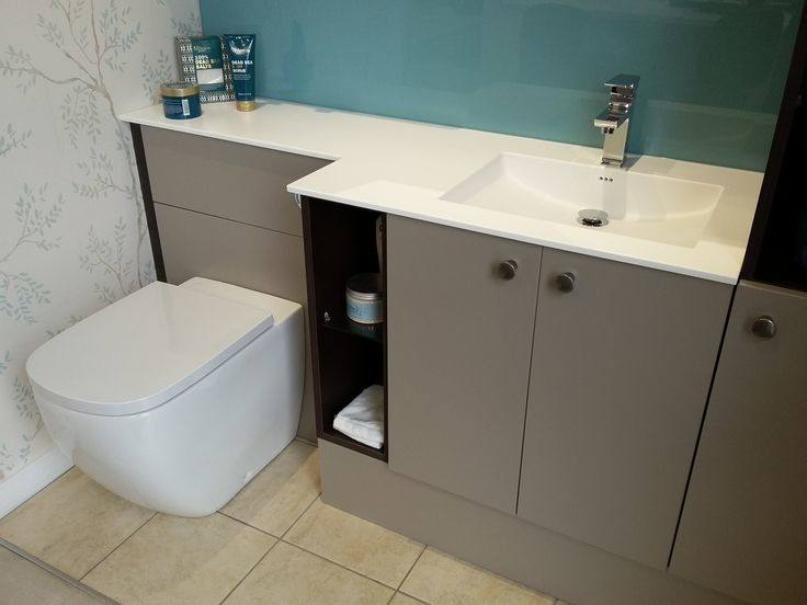 bathroom toilet and sink unit