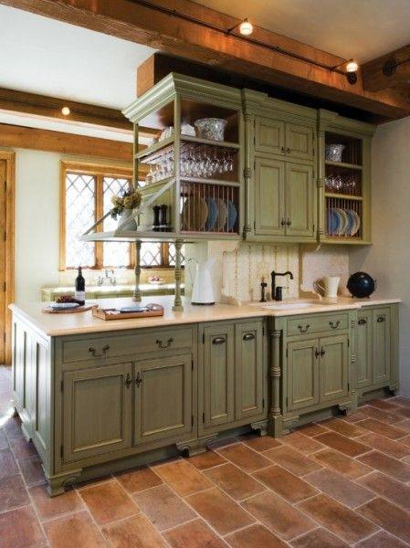 green cabinets for kitchen |