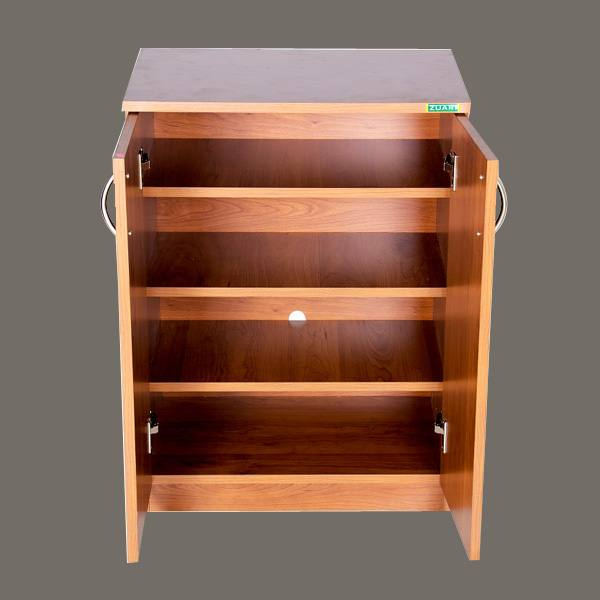 Spacious Shoe Cabinet Furniture In Zuari Smart Natural Teak Finish  Mavifurniture