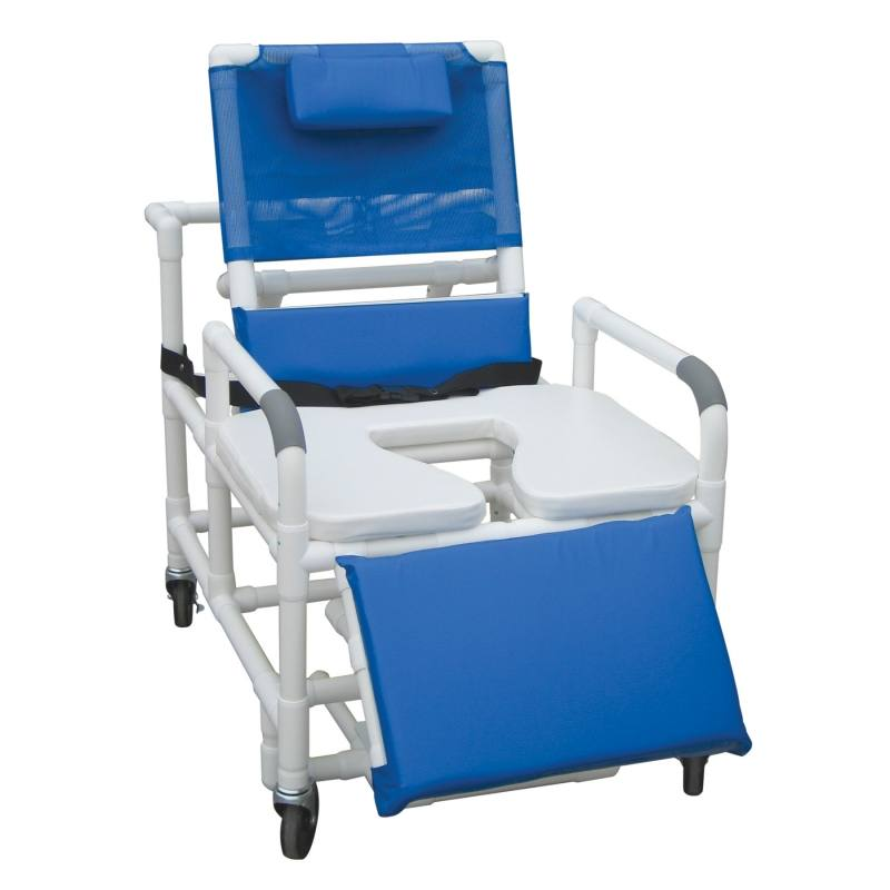 Bath tub chair with cut out seat