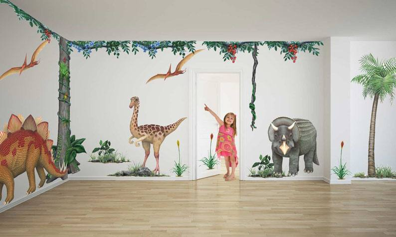 Wallpaper DIY Kid'S Child Room Decor Decal Cartoon Lovely Animal Kangaroo  Birds Elephant Star Moon Tree Zoo Removable Wall Stickers Wall Art Tree  Stickers
