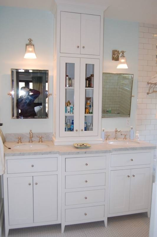 bathroom cabinets double sink vanity tower