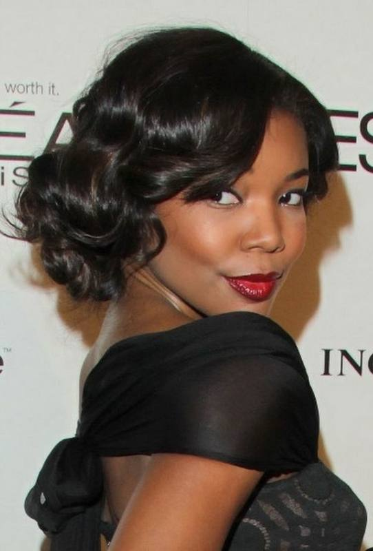 Cute Hairstyles wedding hairstyles for a black bride