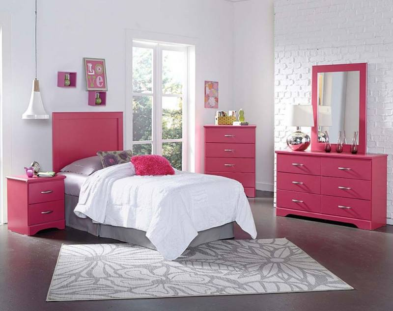 Artsy Girls Bedroom Furniture Sets White