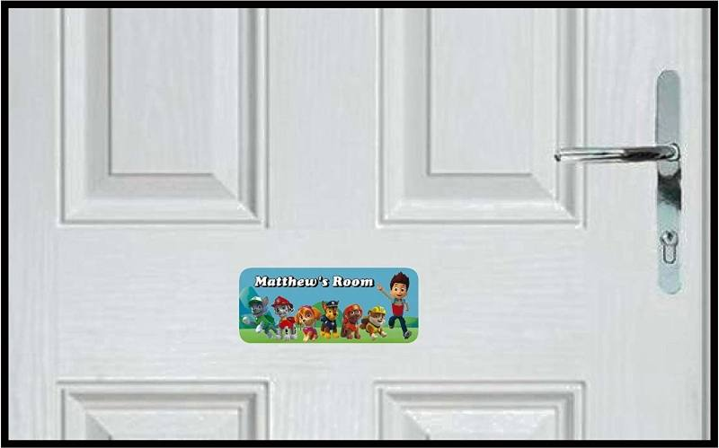 Boys personalised room name sign www