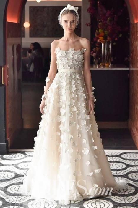 com SUPPLIES Strapless Little Flowers Mermaid Wedding  Dress Wedding Dresses 2017
