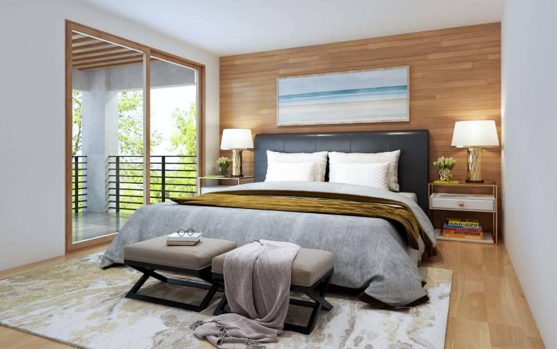 Perth Chestnut Platform Bedroom Set Media Gallery