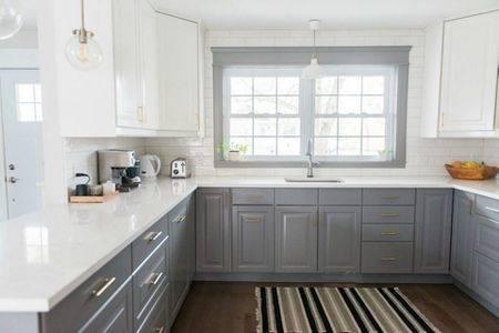 attractive gray countertops white cabinets g1665937 best contemporary kitchen  gray granite white cabinets dark gray quartz