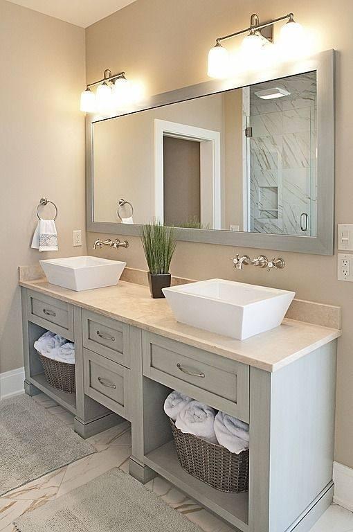 37 inch Antique Coffee Bathroom Vanity Mirror Carrera Countertop
