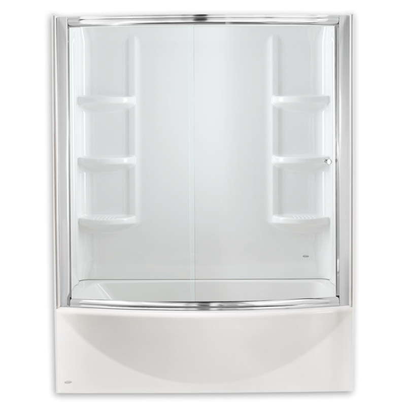 Infinity Tub Door with Backwall (Frosted Glass)