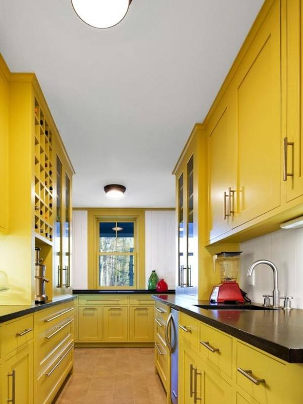 Kitchen Ideas With Yellow Cabinets