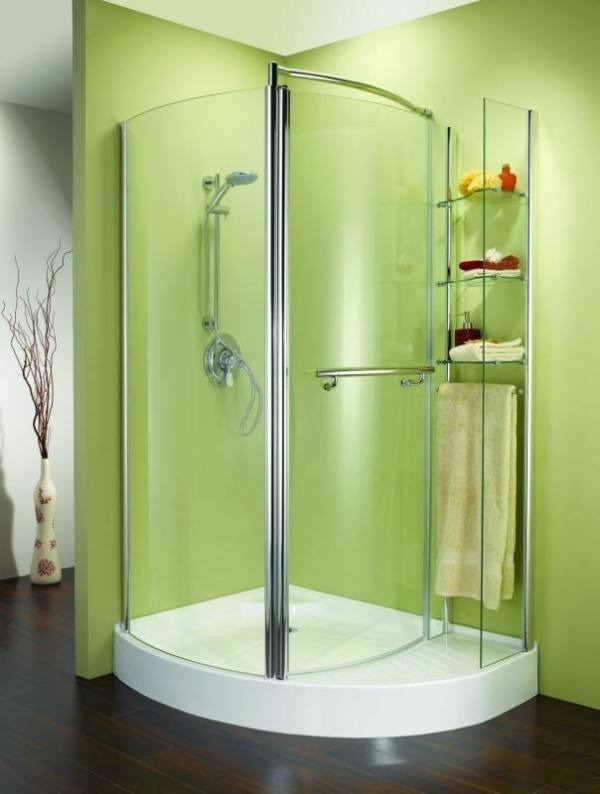 Ark Showers Frameless Bathtub Shower Screen, Pivot Door, 60 X 33