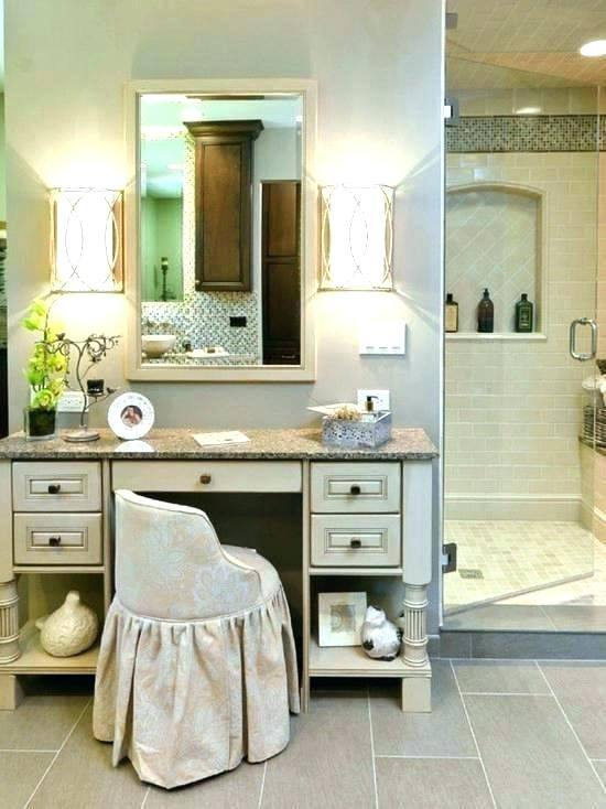 Double Vanity With Makeup Area Elegant Bathroom Double Sink Vanity With Makeup  Area Vanities Of Within Inspirations 2 Double Sink Bathroom Vanity With