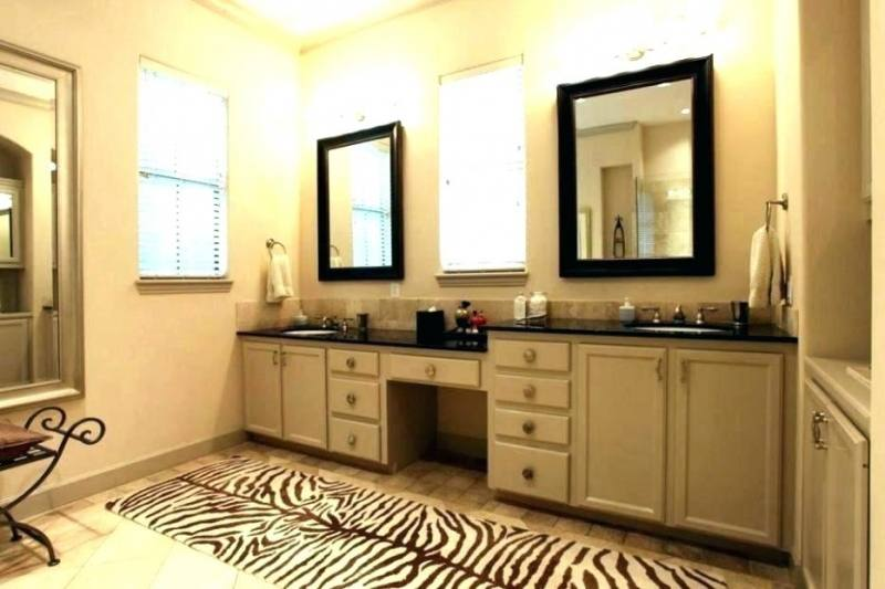 Bathroom Vanity With Makeup Table Innovative Model 2 Counter Seperate