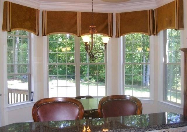 bay window valance curtains kitchen