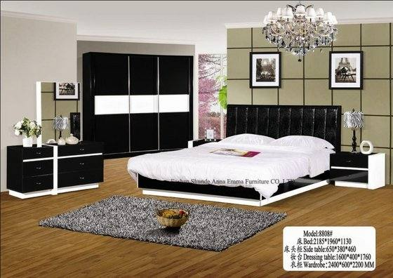 Bantia Queen Bed Set with 2 Door Wardrobe with free Shoe Rack