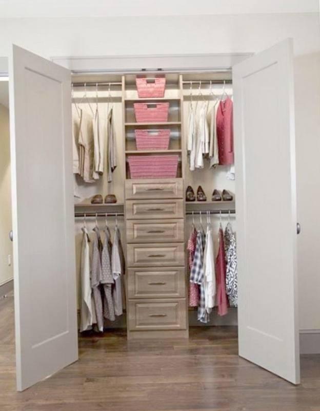 Add custom DIY shelving to your builder basic closet
