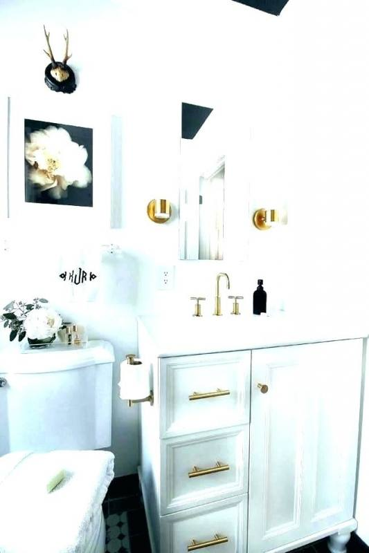 outstanding gold and white bathroom decor