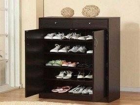 China Two Doors Melamine MDF Simple Shoe Cabinet/Shoe Rack/Shoe Ark for  Furniture
