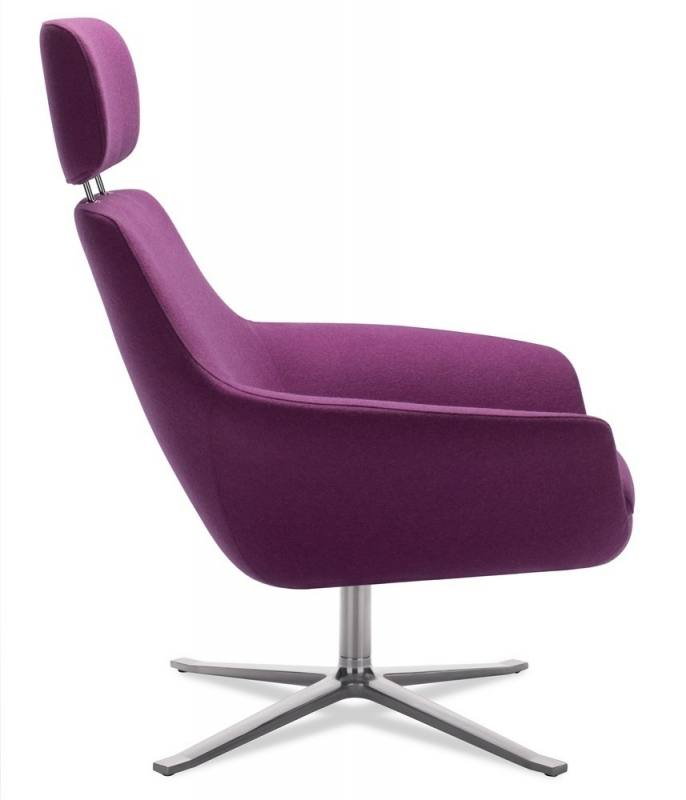 A black Eames Aluminum Group Management Chair, No Arms