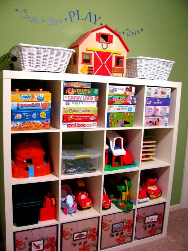 Wall Units, Ikea Children S Storage Kids Room Storage Bins White Silk  Curtain Varnished Wood