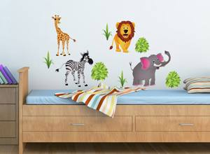 This wallpaper from the Winne the Pooh range is ideal for a nursery, due to  the light background this would work well in a smaller room too