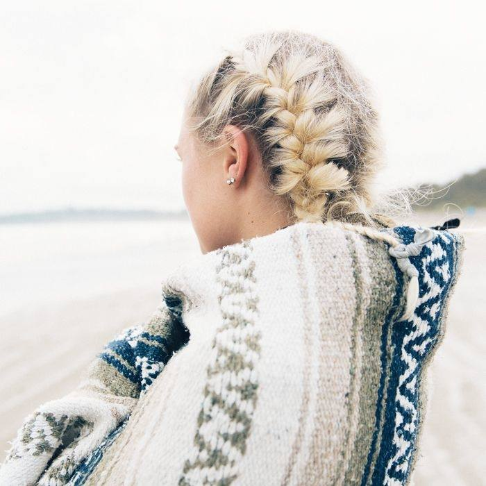 This easy and simple hairstyle