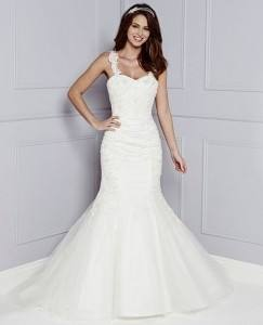 Fishtail petticoat with a smooth shape and one hoops to support your gown without adding volume