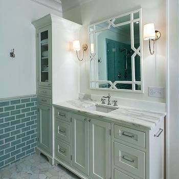 Bathroom Vanity Linen Cabinet With White Lowes
