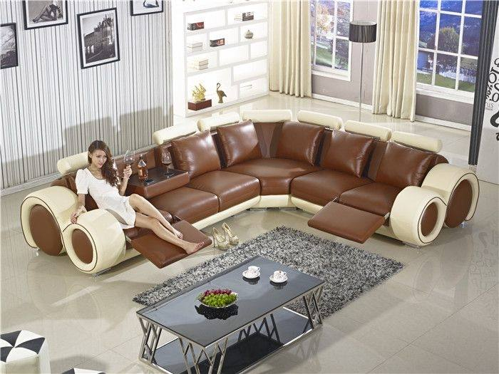Appealing Leather Reclining Sofa Set Reclining Couch Designer Modern  Top Graded Cow Recliner Leather