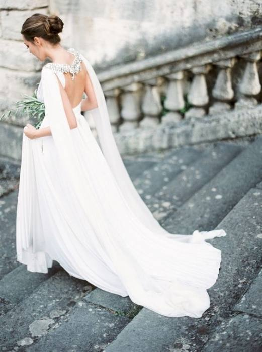 Beautiful Wedding Dresses with Capes | See more on www