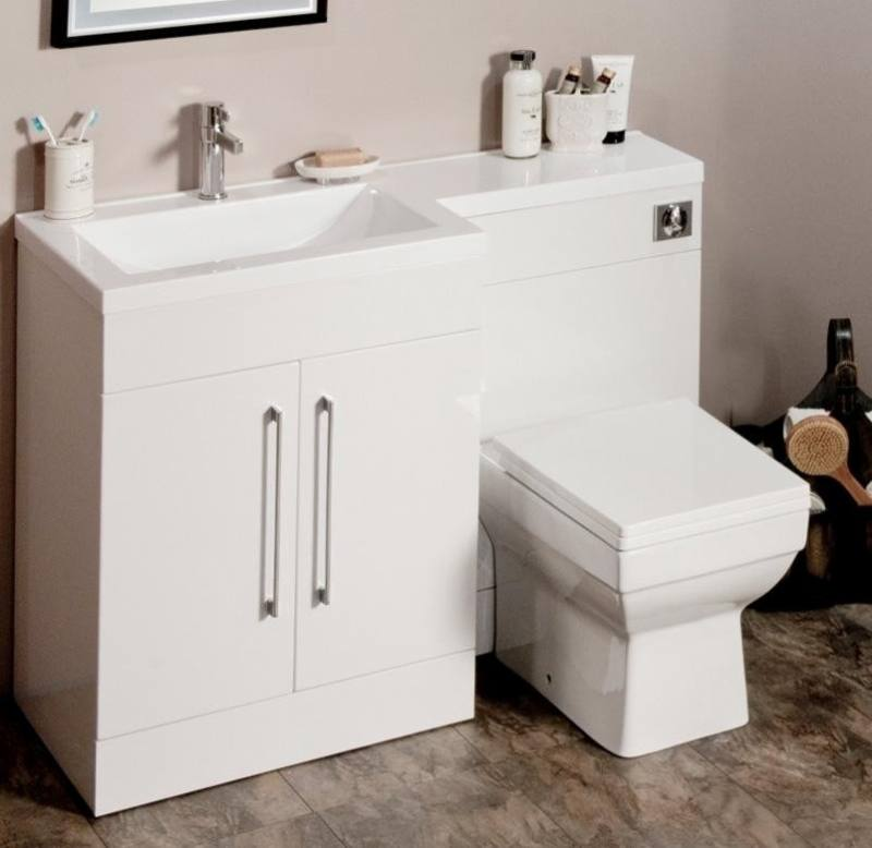 1200 mm Modern Walnut Bathroom Vanity Unit Basin Sink + Toilet Furniture Cabinet Set: iBathUK: Amazon