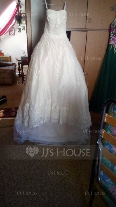 This dress has a different silhouette without using a full petticoat and is still very flattering