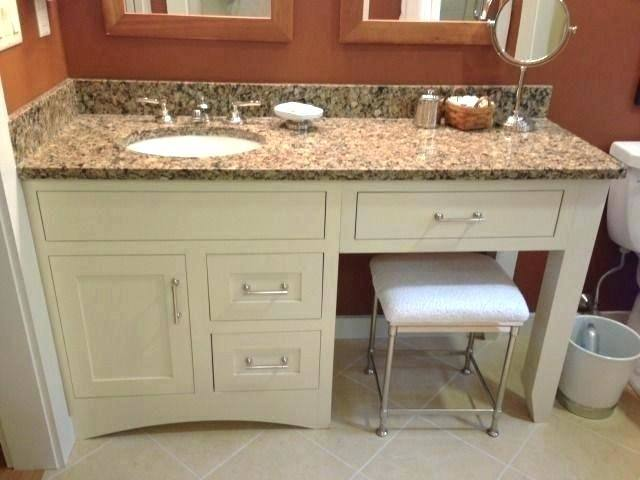 double vanity with makeup area double sink vanities with makeup area  marvelous double vanity with makeup