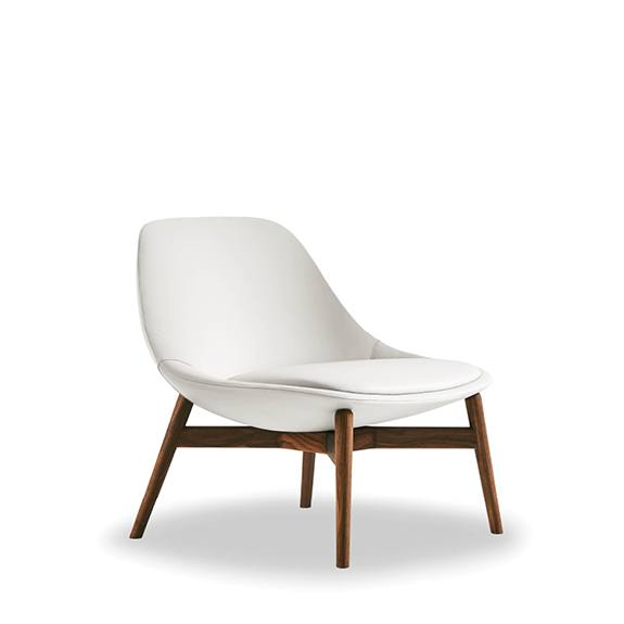 Eames Molded Plastic Chair in Wood Dowel Leg varia