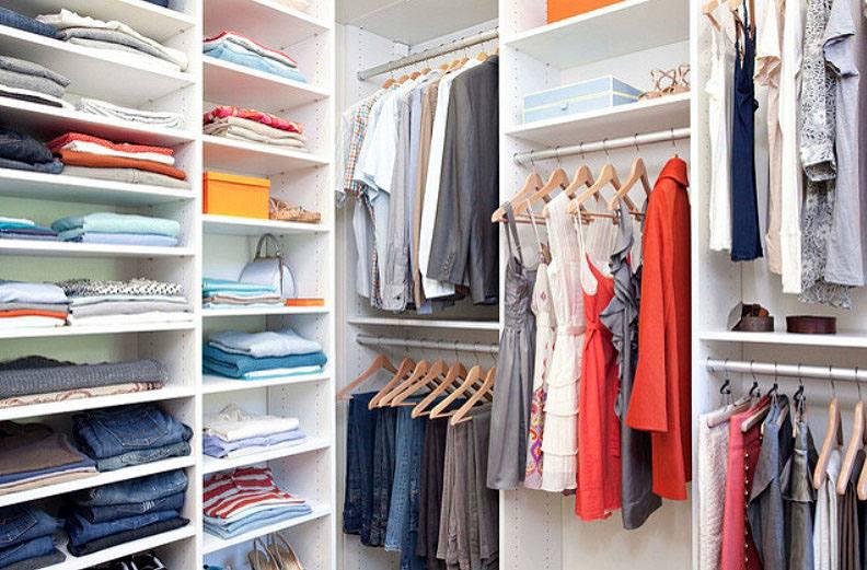 closet shelves for clothes