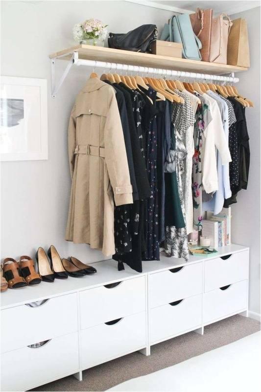 related post no closet ideas