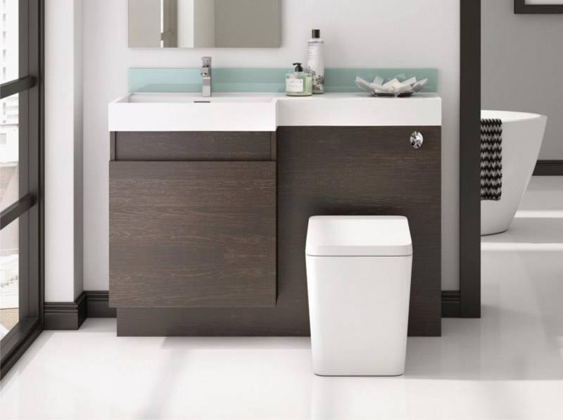 650mm Cloakroom Suite Bathroom Vanity Basin Unit & Toilet