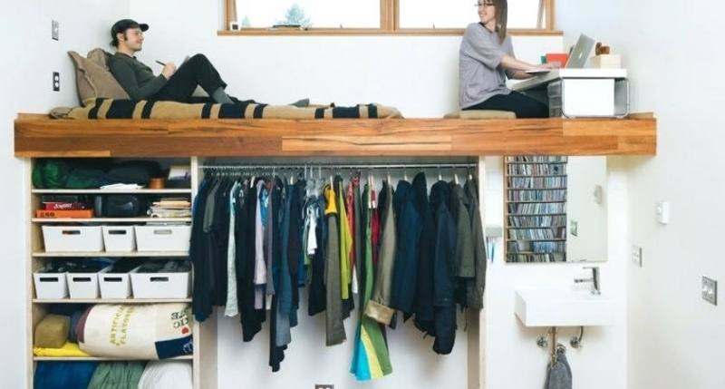 Stylish Large U Shape Cream Vernished Closet Ikea Closets Design System  With Tshirt Bag And