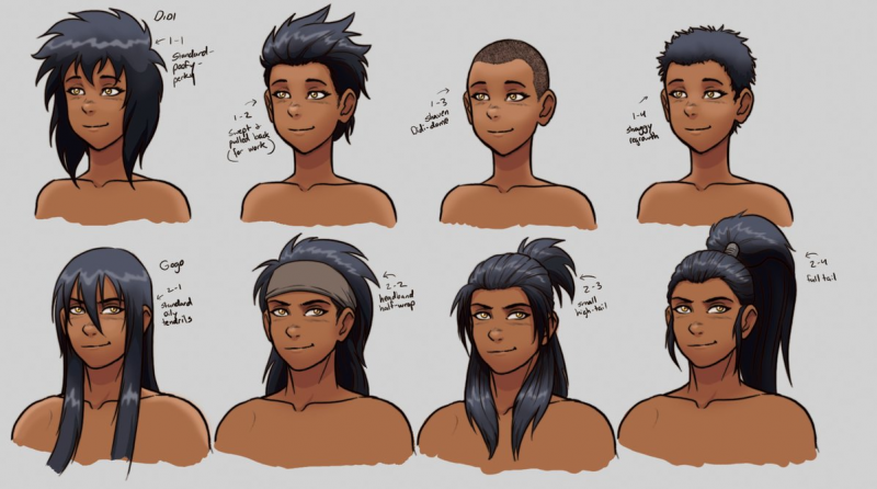 styles chart hairstyles different male charts deviantart reference