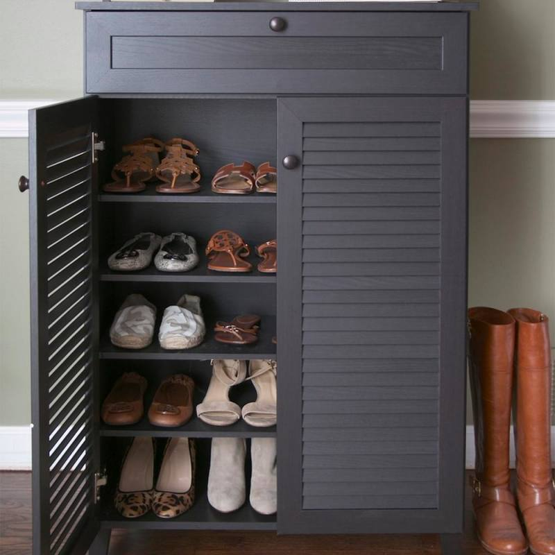 tall shoe cabinet with doors