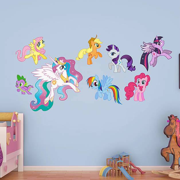 Floor Decorative Kid Room Wall Decor 15 Blank StreetGrip Temp My Little  Pony Fathead Decals Kids