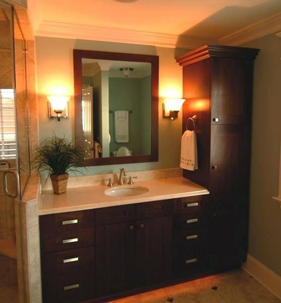 bathroom vanities with matching linen